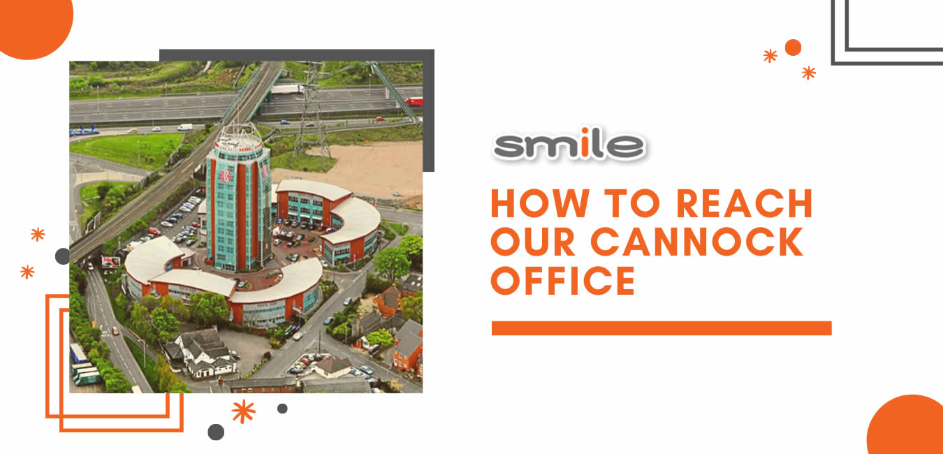 How to reach our Cannock office