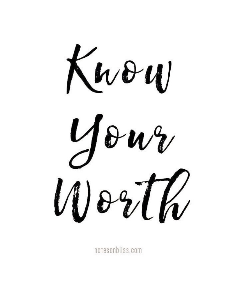 Know your worth- Suneta Bagri