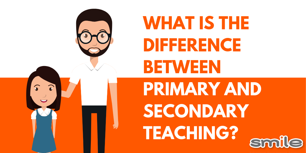 What is the difference between primary and secondary teaching?