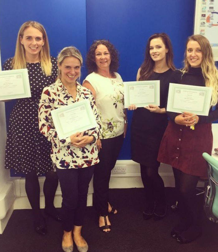 Smile Education Safer Recruitment Training participants with their certificates